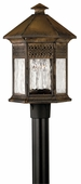 Hinkley Lighting (2991SN) Westwinds Outdoor Post Light in Sienna with Clear Water Glass Panels