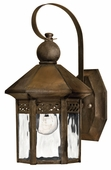 Hinkley Lighting (2989SN) Westwinds Small Outdoor Wall Sconce in Sienna with Clear Water Glass Panels
