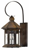 Hinkley Lighting (2990SN) Westwinds Small Outdoor Wall Sconce in Sienna with Clear Water Glass Panels