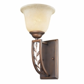 Woodbriar 1 Light Wall Sconce in Sovereign Bronze by Golden Lighting