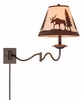 Vaxcel Lighting (WL55612) Yellowstone 12 Inch Swing Arm Wall Light shown in Burnished Bronze