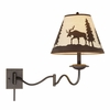Vaxcel Lighting (WL55612) Yellowstone 12 Inch Swing Arm Wall Light Burnished Bronze