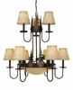 Vaxcel Lighting (CH55609) Yellowstone 12 Light Chandelier Burnished Bronze
