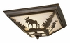 Vaxcel Lighting (CC55614) Yellowstone 14 Inch Flushmount Burnished Bronze