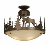 Vaxcel Lighting (CF55618) Yellowstone 18 Inch Semi-Flush Burnished Bronze