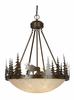 Vaxcel Lighting (PD55624) Yellowstone 24 Inch Pendant Burnished Bronze