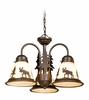 Vaxcel Lighting (LK55616) Yellowstone 3 Light Light Kit shown in Burnished Bronze & Amber Flake Glass