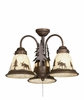 Vaxcel Lighting (LK55616) Yellowstone 3 Light-Light Kit Burnished Bronze