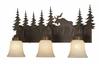 Vaxcel Lighting (VL55603) Yellowstone 3 Light Vanity Burnished Bronze