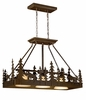 Vaxcel Lighting (PD55636) Yellowstone 36 Inch Kitchen Island Pendant Burnishd Bronze