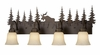 Vaxcel Lighting (VL55604) Yellowstone 4 Light Vanity Burnished Bronze