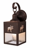 Vaxcel Lighting (OW24963) Yellowstone 5 Inch Outdoor Wall Light shown in Burnished Bronze & Clear Seeded Glass