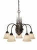 Vaxcel Lighting (CH55605) Yellowstone 5 Light Chandelier Burnished Bronze