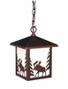 Vaxcel Lighting (OD36986) Yellowstone 8 Inch Outdoor Pendant Burnished Bronze