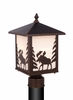 Vaxcel Lighting (OP36985) Yellowstone 8 Inch Outdoor Post Light Burnished Bronze