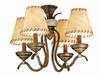 Vaxcel Lighting (LK38354) Yellowstone Fan Light Kit Aged Walnut