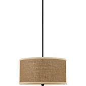 "Quoizel Lighting (ZE2816K) Zen 16"" Pendant in Mystic Black"