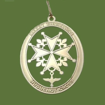 Brass Huguenot Christmas Ornament