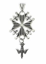 """Legacy"" Huguenot Cross in Sterling Silver"