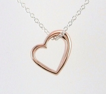 Rose Gold Open Heart