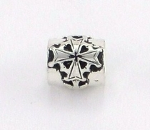 Sterling Silver Huguenot Cross Bead