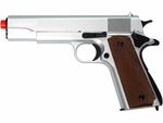1911 Style Spring Airsoft Pistol - Silver by UHC