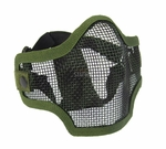 2G Steel Mesh Half Face Mask for Airsoft, OD Green with Skull