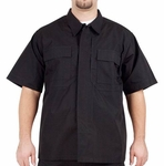 5.11 Tactical TDU Short Sleeve Shirt, Ripstop, Black