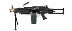 A&K M249 PARA AEG Airsoft Support Gun with Bipod & Box Magazine