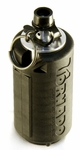 AI Tornado Grenade, Gas Powered Airsoft Grenade by Airsoft Innovations, Black