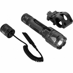 AIM Sports 180 Lumens Flashlight Kit w/ Offset Mount and Pressure Switch, Black