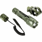 AIM Sports 180 Lumens Flashlight Kit w/ Offset Mount and Pressure Switch, Green