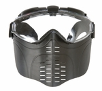 Airsoft Face Mask with Clear Lens and Elastic Strap