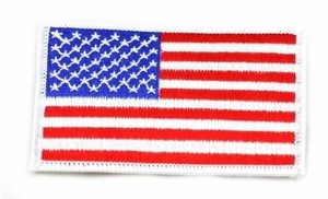 American Flag Velcro Patch, Red, White & Blue