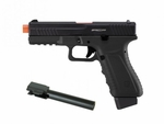 APS ACP601 CO2 Blowback Airsoft Pistol, Black