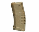 Ares Amoeba ABS Mid Cap Mag, 140 Rounds, Dark Earth