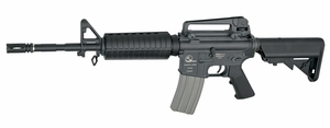 Armalite M15 A4 AEG Airsoft Rifle, LMT Licensed Sportline Package w/ 2 Mags and Speed Loader by ASG