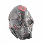 "Army of Two FMA ""Spectre 1.0"" Airsoft Face Mask, Stamped Steel Mesh, Black/Red"