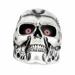 """Army of Two FMA """"T800"""" Airsoft Face Mask, Stamped Steel Mesh, Black/Chrome"""