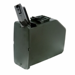 Auto Winding Drum Magazine for A&K M249 SAW Airsoft Gun, 2,500 Round Capacity
