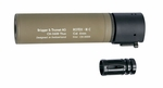 B&T ROTEX III C Metal QD Barrel Extension and Metal Flash Hider, Tan, 6.2""