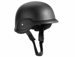 Black Plastic Airsoft Helmet with Strap