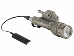 Bravo Airsoft Scout V Tactical Flashlight with Pressure Pad and Mount, Tan