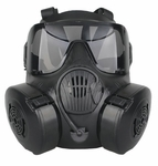 CBRN Style EM50 Black Mask with 2 Lenses
