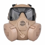 CBRN Style EM50 Tan Mask with 2 Lenses