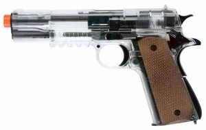 Combat Zone Stryker 1911 Spring Airsoft Pistol by Umarex, Clear