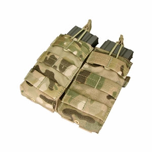Condor Double M4/M16 Open Top Mag Pouch, Multicam