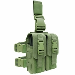 Condor Drop Leg Double M4 Mag Pouch, OD Green