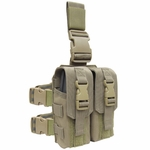 Condor Drop Leg Double M4 Mag Pouch, Tan