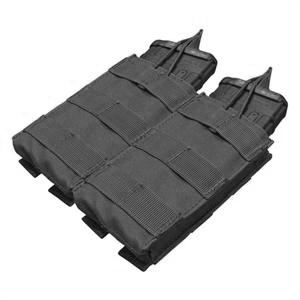 Condor MOLLE Double M4/M16 Open Top Magazine Pouch, Black